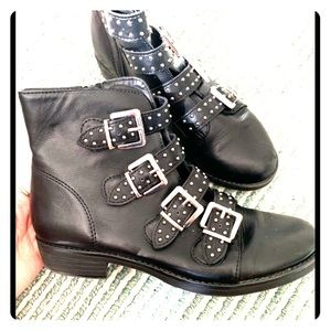 SM New York buckled booties